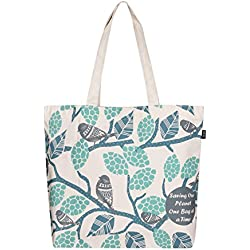 Bolsa de algodón ecológico estampado «Sparrows»