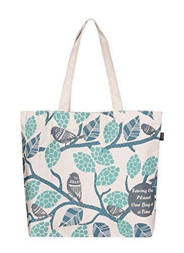 Eono Essentials - Bolsa al hombro de 100% algodón/tela, reutilizable y ecológica,...