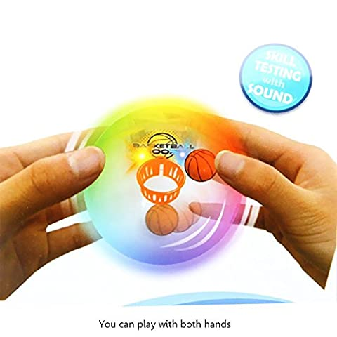 Mini Magic Pocket Basketball Jouets Jeu de Tir pour Enfants Garçons Filles Enfants Sport Bureau Relax Toy Light Up Lumières LED et Effets Sonores Cadeau D