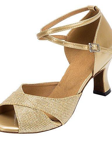 La mode moderne Sandales femmes personnalisables Chaussures de danse de bal Salsa Latino Paillettes scintillantes personnalisés sandales US4-4.5 / EU34 / UK2-2.5 / CN33