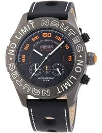 Nautec No Limit Herren-Armbanduhr XL Dakkar Chronograph Quarz Leder DK QZ/LTGMBK