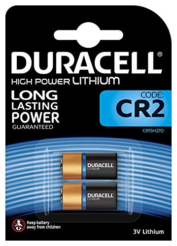 Duracell High Power Lithium CR2 Batterie (3V, 2er-Packung (CR15H270) entwickelt für die Verwendung in Sensoren, schlüssellosen Schlössern, Blitzlicht und Taschenlampen)