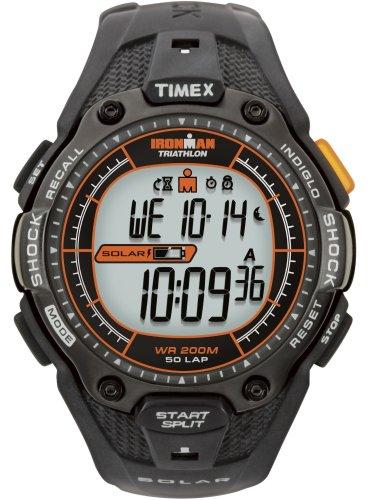 Timex T5J641SU - Reloj digital de mujer de cuarzo con correa de acero inoxidable negra - sumergible...