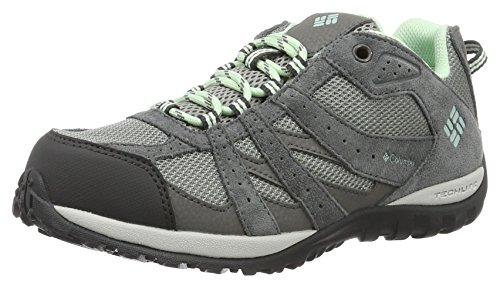 Columbia Youth Redmond Waterproof, Chaussures Multisport Outdoor Fille Gris (Monument, Sea Ice 036)