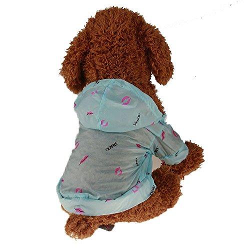 Haustier Sonnenschutz Mantel Jacke,Sommer Sonnenschutz Hund Katze Printed Regenmantel Sonnenschutzkleidung,Hunde Katze Sommer Belüftung Sonnenschutzkleidung,für Hunde Katze Haustier (Blau, XL)