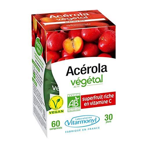 Vitarmonyl - Acérola Actif Végétal Bio 39G - Lot De 3 - Prix Du Lot - Livraison Rapide En France Métropolitaine Sous 3 Jours Ouverts