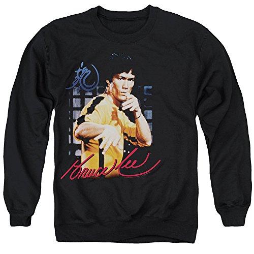 Bruce Lee-Felpa tuta uomo, colore: giallo Nero  nero