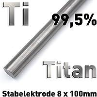 Rundstab aus reinem Titan 100 x ⌀8 mm Metall Rundstange Materialprobe Ti Grade 1