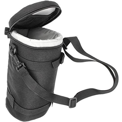 Objektivtasche Objektivköcher Objektivbeutel für Kamera Objektive mit Schultergurt + Klettverschluss für den Gürtel – Innenmaß 310 x 124 mm – JJC Deluxe Lens Pouch DLP-7