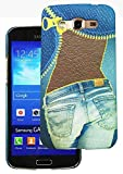 Heartly Jeans Style Printed Design High Quality Hard Bumper Back Case Cover For Samsung Galaxy Grand 2 G7102 G7106 - Ladies Pocket