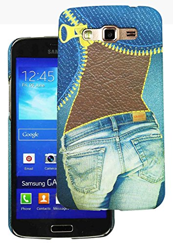 Heartly Jeans Style Printed Design High Quality Hard Bumper Back Case Cover For Samsung Galaxy Grand 2 G7102 G7106 - Ladies Pocket  available at amazon for Rs.199