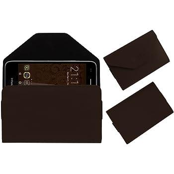 ACM Premium Flip Flap Pouch Case for Infocus Bingo 50 M460 Mobile Leather Cover Brown