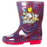 Boys Marvel Avengers Newton Wellies (UK 3 Junior, Blue/Red)