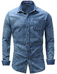Chemise à manches courtes en coton à manches courtes T-shirt à manches courtes élégante Slim Fit M-3XL