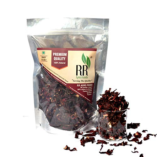 R R AGRO FOODS Pure Dry Hibiscus (Rosella) Flowers (200g)