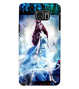 ColourCraft Fantasy Girl Design Back Case Cover for SAMSUNG GALAXY NOTE 5