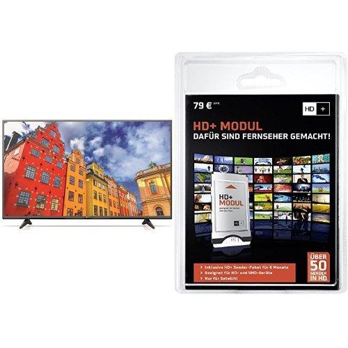 LG 65UF6809 164 cm (65 Zoll) Fernseher (Ultra HD, Smart TV Web OS, Triple Tuner, Magic Remote Ready, Motion Eco Sensor)+ HD PLUS CI+ Modul für 6 Monate (inkl. HD+ Karte, optimal geeignet für UHD, nur für Satellitenempfang) Bundle
