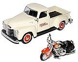 alles-meine.de GmbH Chevrolet 3100 Pick-up Beige 1950 1/25 Plus Harley Davidson FLSTS Heritage Springer 2001 1/24 Maisto Modell Auto