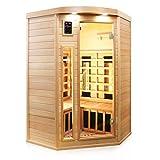 TroniTechnik Infrarotsauna 2 Personen Infrarotkabine Sauna Karbon Flächenstrahler Vollspektrumstrahler 120cm x 120cm x 190cm