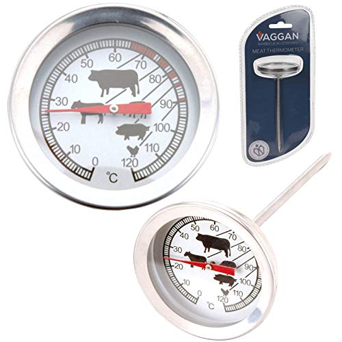 Veggan BBQ Fleisch Milch Analog Temperatur Thermometer Edelstahl Kochen Sensor Essen Rösten Truthahn Küche Ofen Messgerät Probe -