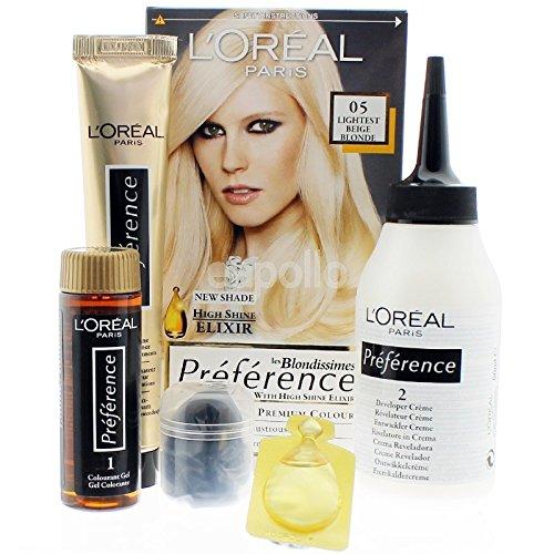 Lot de 2 - L'oréal préference 05 ultra-light - les blondissimes - blond beige trés clair