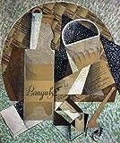 Feelingathome-Leinwand-Bild-Eine-Flasche-Banyuls-cm91x77-Kunstdruck-auf-Leinwand