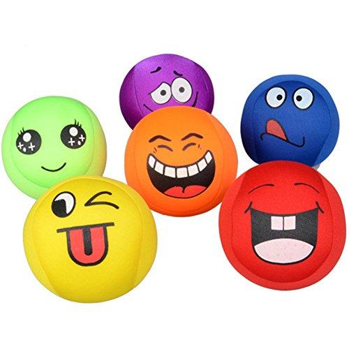 isches Spielzeug Niedlich Gesichtsausdruck Squeeze Ball Verschiedene Farbe Soft EVA Schaum Bälle Set für Hand Handgelenk Finger Ausübung (Soft-schaum-bälle)