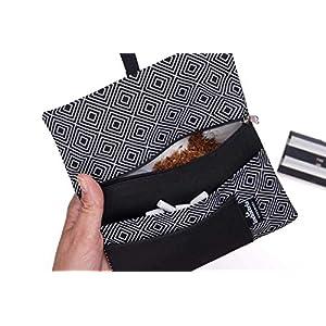 Tabaktasche Rhomben - Tabakbeutel mit Fächern für Filter, Papier und Feuerzeug