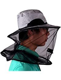 Anti-mosquito Bee Bug Insect Fly Mask Cap Fishing Hat with Head Net Mesh Face Protection for Outdoor Activities
