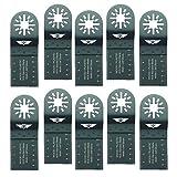 10 x 35mm TopsTools UN35F_10 Holz Schneiden Klingen für Bosch, Fein Multimaster, Multitalent, Makita, Milwaukee, Einhell, Ergotools, Hitachi, Parkside, Ryobi, Worx, Workzone Multitool Multi Tool Multifunktionswerkzeug Oszillierwerkzeug Zubehör