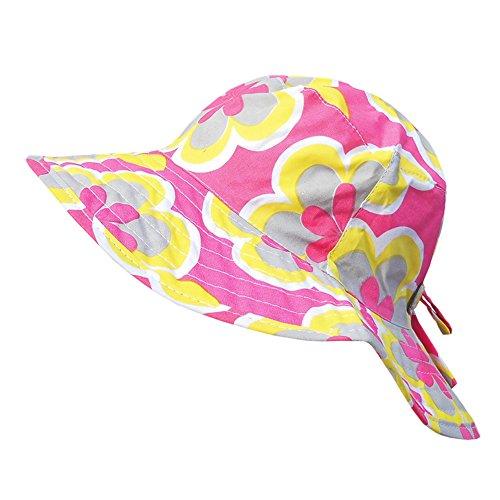 Galeja Mädchen Sommerhut Sonnenhut 8 cm breite Krempe Modell Pink Gr. 48 100% Baumwolle Mädchenhut Babyhut -
