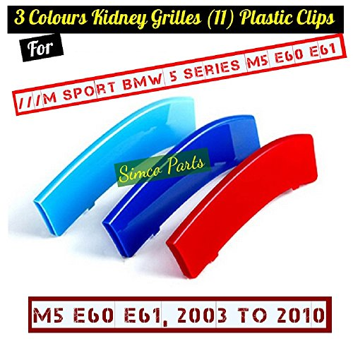 2009 2007 2006 2005 2008 2010 Kool Parts: 3D 3 Colors Kidney Grille Plastic Clips for Sport Cars 2003 2004