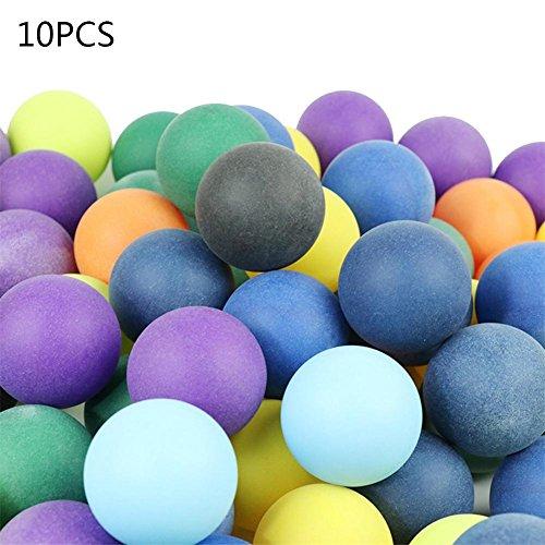 10pezzi/50pezzi/100pezzi palline da tennis smerigliato colorate tavolo da ping pong palline 40mm + 2.8g vari colori palle per allenamento
