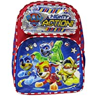 """Paw Patrol - Mighty Pups 16"""" Deluxe Full Size Backpack - Super Hero Puppies - A19003"""