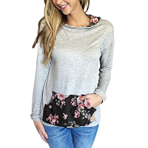 Bekleidung Longra Frauen floralen Drucken Pocket Hoodie Sweatshirt Kapuzen Pullover Tops Shirt...