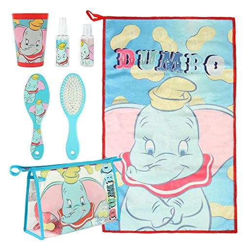 Artesania Cerda Neceser Set Aseo/Viaje Disney Dumbo Bolsa de Aseo, 23 cm, Turquesa