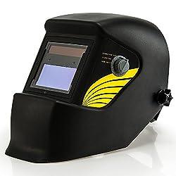 Monzana Automatik Schweißhelm | großes Sichtfeld | für alle gängigen Schweißtechniken | Schweißmaske Schweißschirm Solar