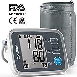 Blutdruckmessgerät CocoBear Digitale Oberarm Blutdruckmessgerät mit Arrhythmie-Erkennung  2 * 90 Speicher Messungen FDA CE RoHS Genehmigt