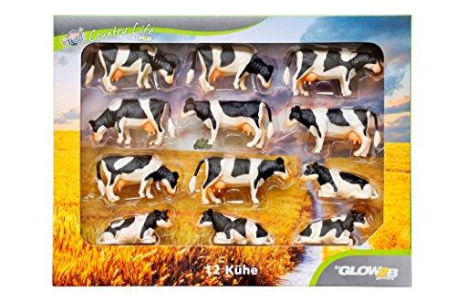 KidsGlobe 1000587 - Kühe Set für Siku, Bauernhofzubehör, 12 Stück Preisvergleich