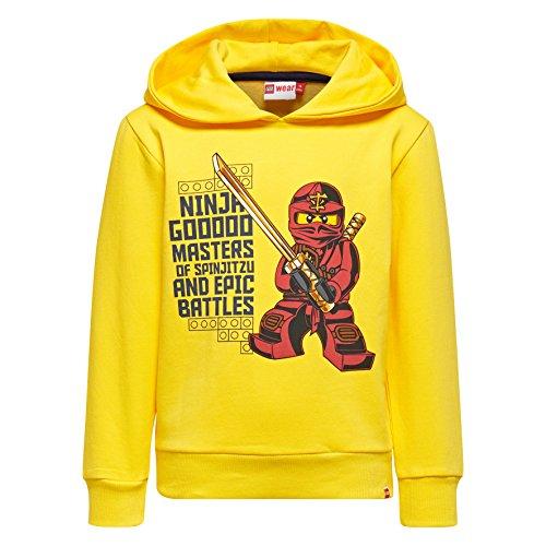 LEGO Wear Jungen Lego Boy Ninjago Sebastian 104-Sweatshirt, Gelb (Yellow 233), 134