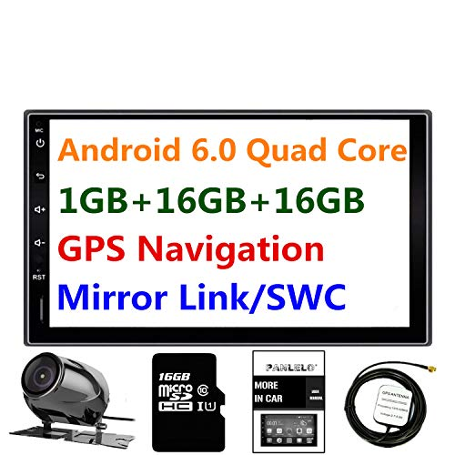 Panlelo® PA09YZ16, 7 Zoll 2 Din Head Unit Android 6.0 GPS Navigation Car Stereo Audio Radio 1080P Video Player ARMv7 Quad Core Built in Wi-Fi Bluetooth AM/FM/RDS Steering Wheel Control ... (Ap-audio)
