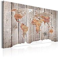 murando – Impression sur toile - 120x80 cm - 1 Piece - Image sur toile - Images - Photo - Tableau - motif moderne - Décoration - tendu sur chassis - Poster Carte du Monde Continent k-C-0050-b-b