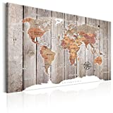murando - Weltkarte Pinnwand 120x80 cm Bilder mit Kork Rückwand 1 Teilig Vlies Leinwandbild Korktafel Fertig Aufgespannt Wandbilder XXL Kunstdrucke Landkarte k-C-0050-p-b