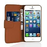 iPhone 6 / 6s Lederhülle | JAMMYLIZARD Ledertasche [ Wallet Tasche Series ] Leder Book Case Hülle Flip Cover Schutzhülle mit Kartenfach, Braun