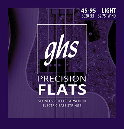 GHS 3020L Precision Flat Wound Short Scale Light String