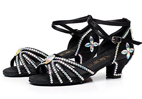 chaussures de danse professionnelle chaussures enfants latino-filles avec des chaussures de danse latine filles enfants clouté de diamants chaussures d'été fond mou C