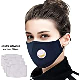 Tdas Face mask for dust pollution for men women kids bike bikers air anti pollution dustproof mask washable reusable (Navy Blue)