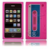Gadget Zoo Coque en gel de silicone pour Apple iPhone 3G/3GS Motif cassette rétro