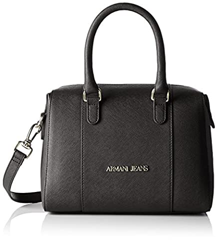 ARMANI JEANS Womens 922542CC857 Shoulder Handbag, Black, One Size