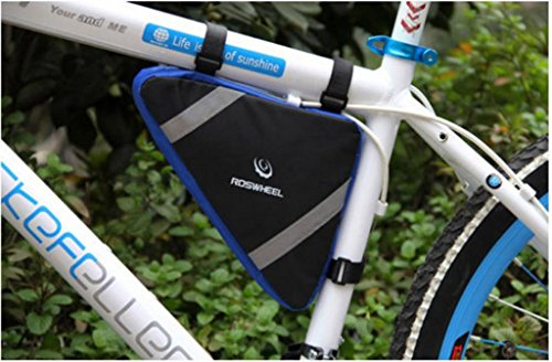 Tofern Fahrrad Radfahren Triangle Aufbewahrungstasche vorne Rohr Tasche Rahmentasche Steuerrohr Tasche Blau
